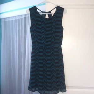 Cute black and blue patterned dress